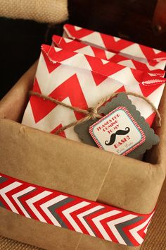 Favors at mustache bash birthday party #mustache #party #favors #bags