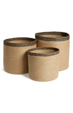 AM Home Textiles Handmade Jute Storage Baskets (Set of 3) available at #Nordstrom