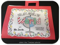 Holidays Around the World Suitcase {free download}