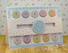 Sweet Heart Penny Spinner Card – Simply Creative Make A Wish papers and First Edition Dies by DT member Angela
