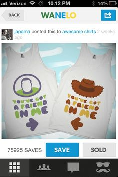 Shirt disney disney shirt disney top you've got a friend in me bff shirts Disney Tops, Disney Shirts, Disney Outfits, Kids Outfits, Disney Clothes, Disney Disney, Disney Cruise, Bff Clothes, Disney Family