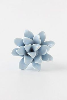 Ginger Flower Knob, Sky | Anthropologie.eu
