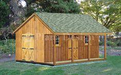 Building A Storage Shed, Garden Storage Shed, Shed Building Plans, Storage Shed Plans, Diy Shed, Building A House, Building Ideas, Wood Shed Plans, Barn Plans