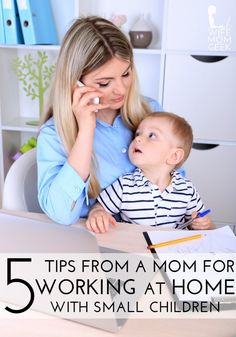 Parenting can be a struggle, especially when you're juggling a job and staying at home with the kids at the same time. Here are 5 Work at Home Tips for Moms With Young Children to help you better structure your time. Work From Home Tips, Stay At Home Mom, Working Mother, Working Moms, Kids Fever, Christian Parenting, Home Hacks, Mom And Baby, Parenting Advice