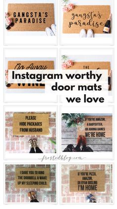 Doormat Love- These Welcome Mats are Funny AF ! Funny Welcome Mat, Welcome Mats, Bedroom Door Signs, Front Door Mats, Front Porch, Diy Christmas Gifts For Family, Large Christmas Baubles, Diy Signs, Funny Door Signs