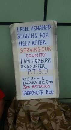 Homeless Former Soldier With PTSD Forced To Beg Outside Cambridge Asda | HumansinShadow.wordpress.com