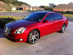 06 red nissan maxima with tinted windowa | 2005 Nissan Maxima SL $10,000 Or best offer - 100422597 | Custom ...