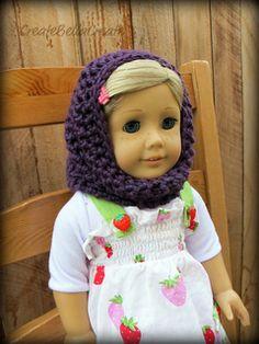 American girl crochet cowl - free pattern