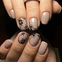 pretty nail art designs for 2017 - style you 7 Henna Nail Art, Henna Nails, Nail Art Design 2017, Nail Art Designs, Easy Nails, Simple Nails, Taupe Nails, Nailed It, Pretty Nail Art
