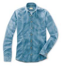 Q1 Hemd SANDRO in Denim Komfort Stretch Denim Button Up, Button Up Shirts, Sandro, Slim Fit, Shirt Dress, Mens Tops, Shopping, Dresses, Fashion