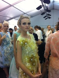 Backstage at Louis Vuitton S/S '12