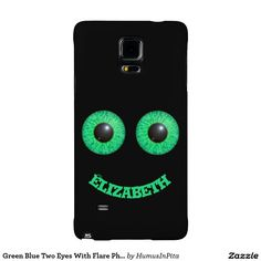 Green Blue Two Eyes With Flare Phone Case Galaxy Note 4 Case