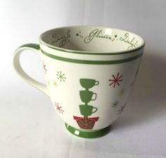 Starbucks Mug Holiday 2006 Delight Dazzle Glisten Red Green Large Coffee Cup