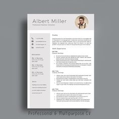 Professional Resume Template. Creative and Modern. CV Template with Photo + Matching Cover Letter + References Page by AvataDesigns.