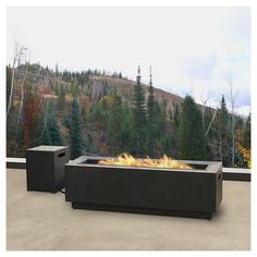 Enhance your outdoor living experience with the Lanesboro Gray Low Rectangle Fire Table.  The steel base has clean lines and a contemporary finish that is sure to coordinate with your outdoor space.  Offering up to 65,000 BTUs of heat per hour, this fire table includes brown lava rock, PVC cover, tank seat, 8ft propane hose and regulator and will operates with a 20lb. external propane tank (sold seperately).