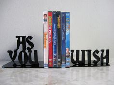 "I need all of them!   These lovely bookends | 17 ""Princess Bride"" Gifts You Need In Your Life"