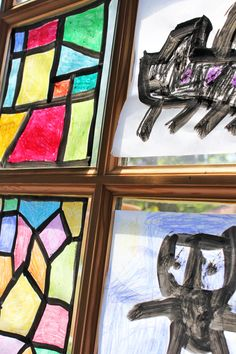 Art & Design for Kids: Faux Stained Glass