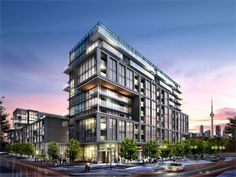 The first of two condominiums being launched in the Canary District in the West Don Lands.