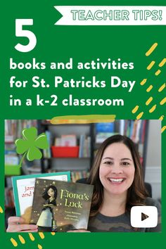 These St. Patrick's Day activities for the classroom are great for kindergarten, first grade, and second grade! In this video, I share some St. Patrick's Day read alouds and free activities to use with your students! #FREEBIE