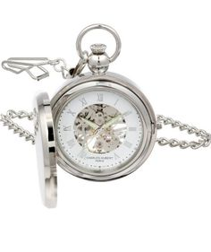 2a6d8f25f Charles-Hubert Pocket Watch 3850 Review: Mechanical Skeleton Dial Railroad Pocket  Watch, Pocket
