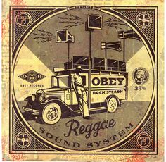 Reggae Sound System HPM on Album Cover / Shepard Fairey via obeygiant.com