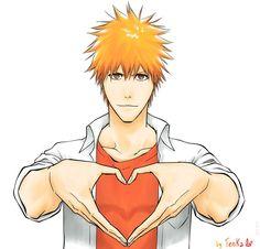 Heart for you by TenKa-kun.deviantart.com on @deviantART Show it to Rukia, Ichigo!
