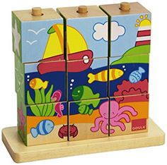 Puzzles 3d, Wooden Puzzles, Wooden Baby Toys, Wood Toys, Puzzle Cube, Cubes, Creative Activities For Kids, Eco Friendly Toys, Waldorf Toys