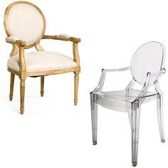 Modern, sleek and sophisticated - the Louis Ghost chair