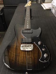G&L Musical Instruments Fallout in 2-Tone Sunburst over Black Limba on Basswood, 3-ply black guard, rosewood board, Vintage Tint Satin neck finish