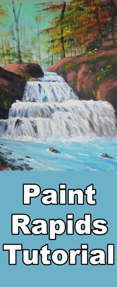 Learn to paint a rapids in a stream with this acrylic painting lesson