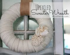 upcycled sweater wreath. so cozy!