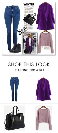 """""""SheIn 5/I"""" by hedija-okanovic ❤ liked on Polyvore featuring Topshop and shein"""