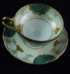 ROYAL HALSEY 1900-1940 Tea Cup & Saucer