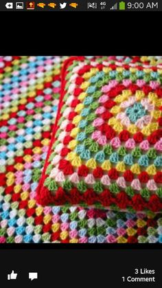 Crochet blanket and cushion