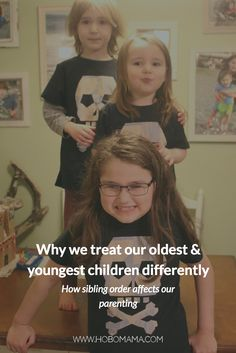 Very true explanation for why sibling order affects the way we parent the oldest and youngest kids in our family, and how we can respond with parenting more fairly