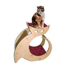Cattino - Cat Scratcher, Kitty Condo & Cat Perch Pet Furniture with cat nip. via Etsy. Crazy Cat Lady, Crazy Cats, Contemporary Cat Furniture, Contemporary Design, Gatos Cat, Cat House Diy, Cat Perch, Cat Scratcher, Cat Condo
