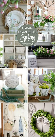 Spring Decorating Ideas via @homestoriesatoz