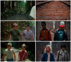 Stand By Me (1986) Stranger Things (2016) #1x05 #mike wheeler #eleven #dustin henderson #lucas sinclair
