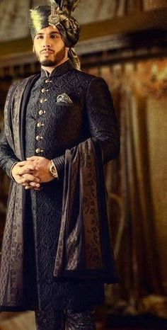 Kapil's wedding outfit - Mens fashion - Indian Wedding Suits Men, Sherwani For Men Wedding, Wedding Men, Punjabi Wedding, Indian Weddings, Farm Wedding, Wedding Couples, Wedding Ideas, Boho Wedding