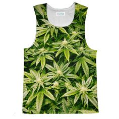 Tank Top (Loose) - Kush Leaves Loose Tank Top Loose Tank Tops, Tank Man, How To Make, How To Wear, Leaves, Prints, Mens Tops, Clothes, Collection
