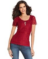 red lace top...cute