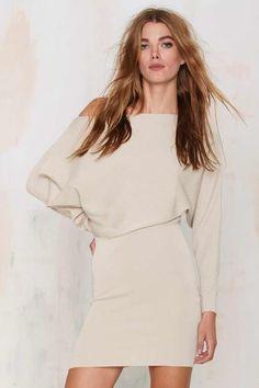 Sonya Off-the-Shoulder Knit Dress