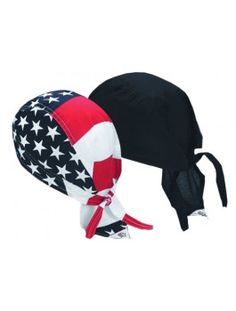 Doo-Rag Chef Hat, available in black and American flag prints.