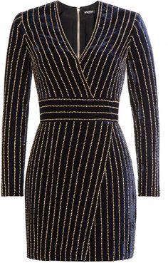 Balmain Embellished Velvet Dress     <>  @kimludcom