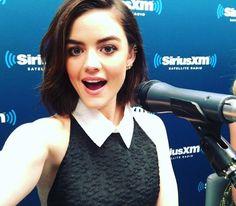 #PrettyLittleLiars Lucy at the SiriusXM Studios