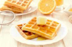 Orange flavored waffles and lemon cream cheese recipes