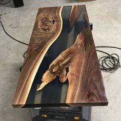 2 coats of satin clear @generalfinishes High Performance Top Coat! #design #industrial #mnmade #metal #metalfab #woodandsteel #woodandmetal #woodwork #wood #woodworking #handcrafted #customdesign #metalfab #metalwork #customfurniture #minnesota #minneapolis #water #nofilter #modern #rustic #reclaimed #resin #mississippiriver #river #walnut #coffeetable #festool #festoolme #rivertable #nofilter