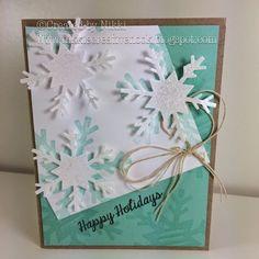 Snowflake card using Fun Stampers Journey