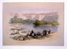 Bank of the Jordan by David Roberts