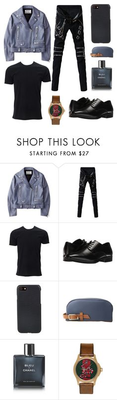 """baekhyun by mrch"" by surahmawati ❤ liked on Polyvore featuring Acne Studios, Simplex Apparel, Stacy Adams, Shinola, MIANSAI, Chanel, Gucci, men's fashion and menswear"